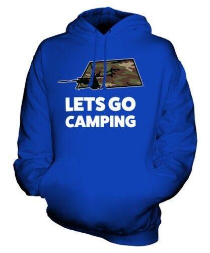 Lets Go Camping Sweat à Capuche Unisexe Haut Cadeau Jeux