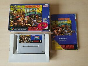 SNES-SUPER-NINTENDO-BOXED-CIB-DONKEY-KONG-COUNTRY-2-DIDDY-039-S-KONG-QUEST-PAL