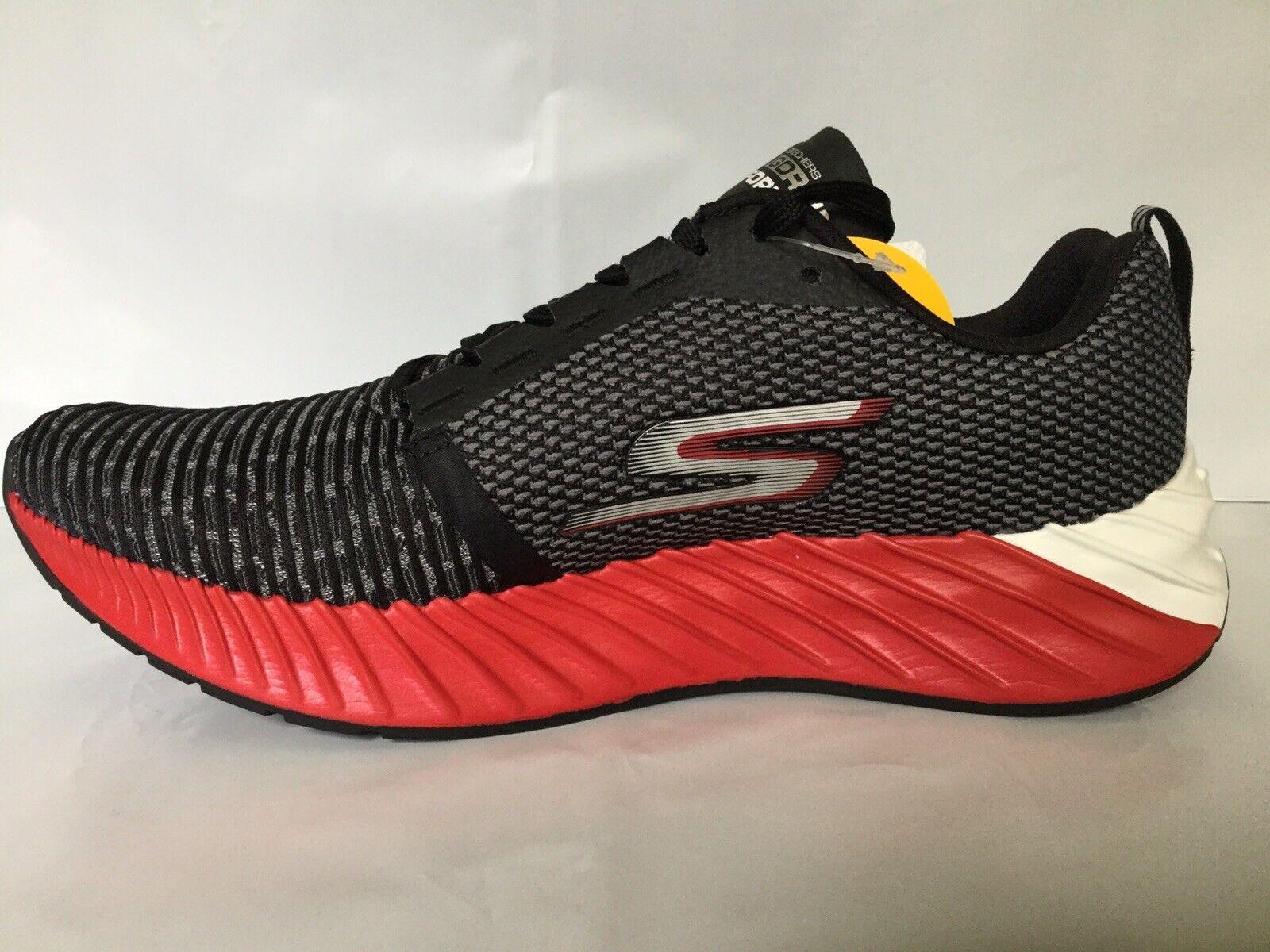 NEW Skechers Men/'s GORUN 400 DISPERSE Running Shoes Char//Red #54353 161M tz