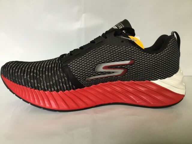 Skechers Gorun Go Run Forza 3 Men's Running Shoes Black White Red Size 9.5