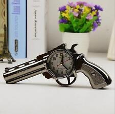 Novelty Pistol Gun Shape Alarm Clock Desk Table Home Office Decor Gifts