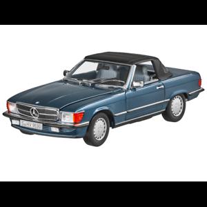 Mercedes Benz 107 –300 Sl Cabriolet  mjukop blå 1 18 Nip