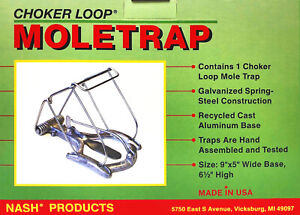 Details About Nash Choker Loop Mole Trap Cl 1 Made In Usa