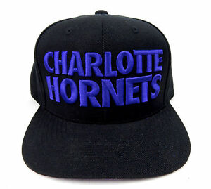 outlet store 9c999 d4cec Image is loading MINT-Mitchell-amp-Ness-Charlotte-Hornets-Title-Snapback-