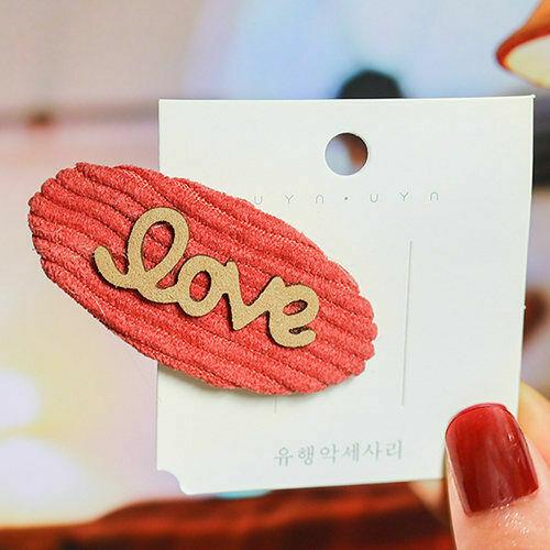 Details about  /Knitting Cloth Barrette Hair Clip Striped Hairpin Cute Girl Hair Accessories#