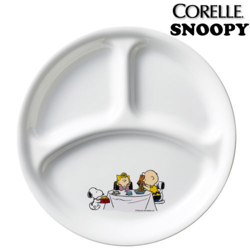 divided colorful dinner plate dish 260mm the home SNOOPY PEANUTS x CORELLE