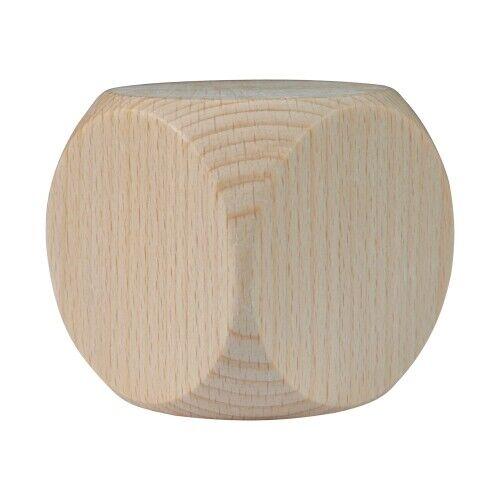 Würfel XXL W6 Blanko 80 mm Holz Buche