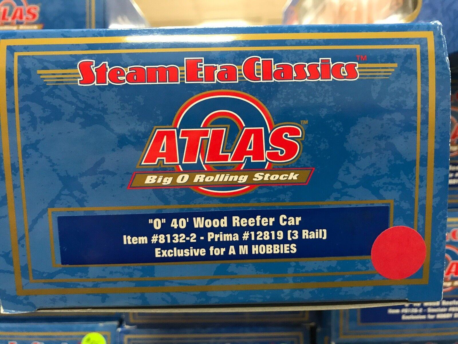 Atlas O  8132-2 Prima 40' Wood Reefer  12819 - 3RL - NIB - EXCLUSIVE - LIMITED