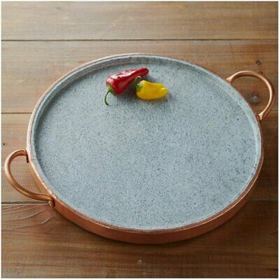 VivaTerra Brazilian Soapstone Round Grill Pan