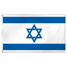 Israel Jewish Flag 4x6 Foot Flag large House Banner SuperPoly Indoor/Outdoor