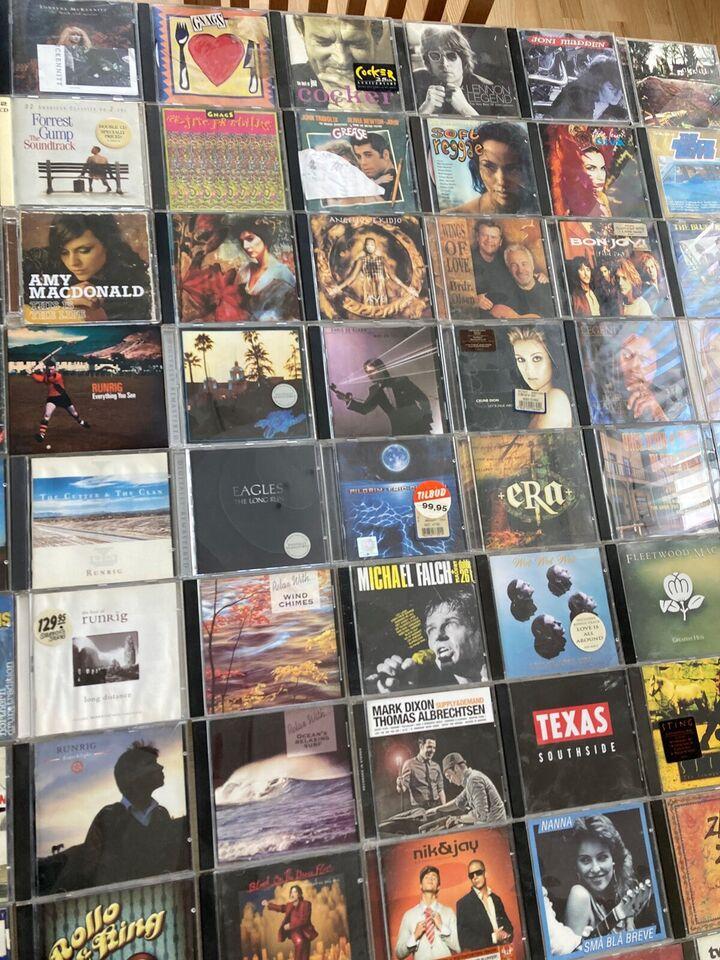 blandet: 80 stk CD, andet