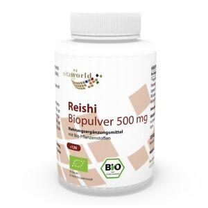 Vita-World-Reishi-Pilz-Pulver-Bio-Qualitaet-500mg-120-Kapseln-Ganoderma-Ling-Zhi