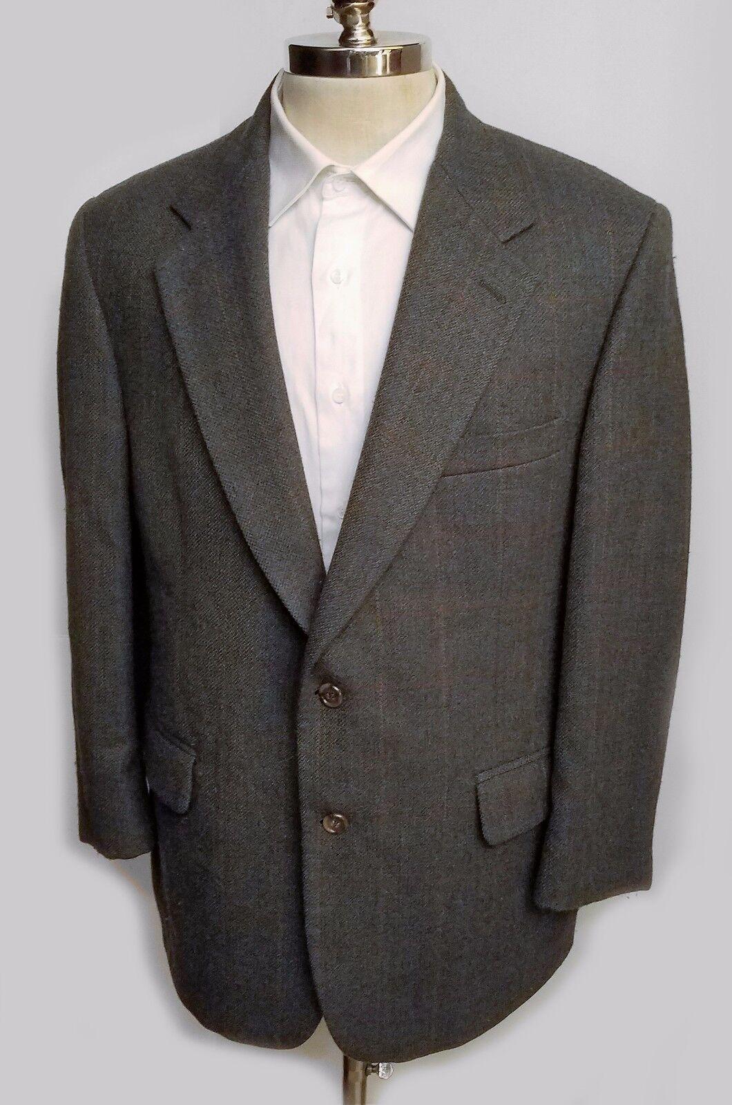 Brooks Brothers  Herren Sport Coat Two Button Wool Window Pane Größe 42 S USA