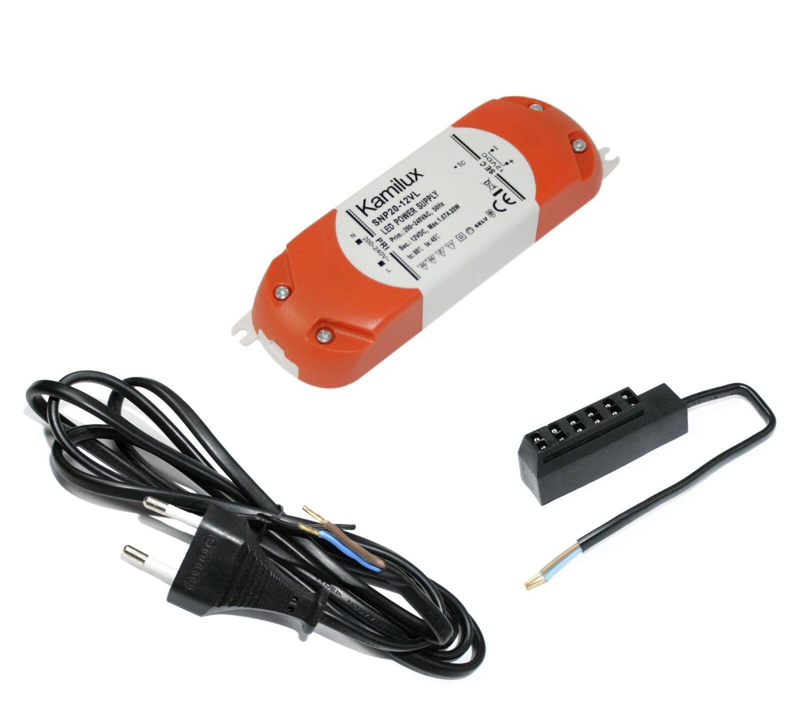 1 - 10er 10er 10er Mobili Lampada 12v LED MOBI 3w = 30w bianco incl. amp di distribuzione + TRASFORMATORE 46117c