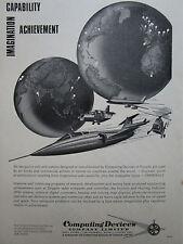4/1966 PUB COMPUTING DEVICES CANADA DOPPLER RADAR PHI SYSTEMS ORIGINAL AD