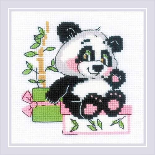 """Kit de Punto de Cruz RIOLIS 1883 /"""" Panda Regalo/"""""""