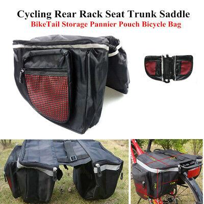 Bicycle Bike Rear Rack Seat Trunk Saddle Tail Cycling Storage Pannier Pouch Bag