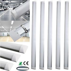 6 x bright 4ft 1200mm led wide tube light ceiling strip lights image is loading 6 x bright 4ft 1200mm led wide tube aloadofball Gallery
