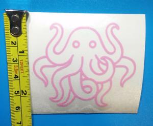 "Pink Octopus Cute Cthulu Adhesive Vinyl Decal Sticker 2"""