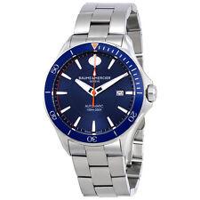 Baume et Mercier Clifton Blue Dial Automatic Mens Watch MOA10378