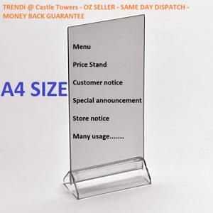 X Restaurant Table Menu Takeaway Price Stand Notice Sign Holder - Restaurant table sign holders