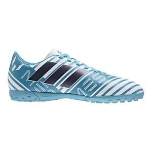 6e859686718e adidas Nemeziz Messi 17.4 TF Junior Turf Football BOOTS Turquoise ...