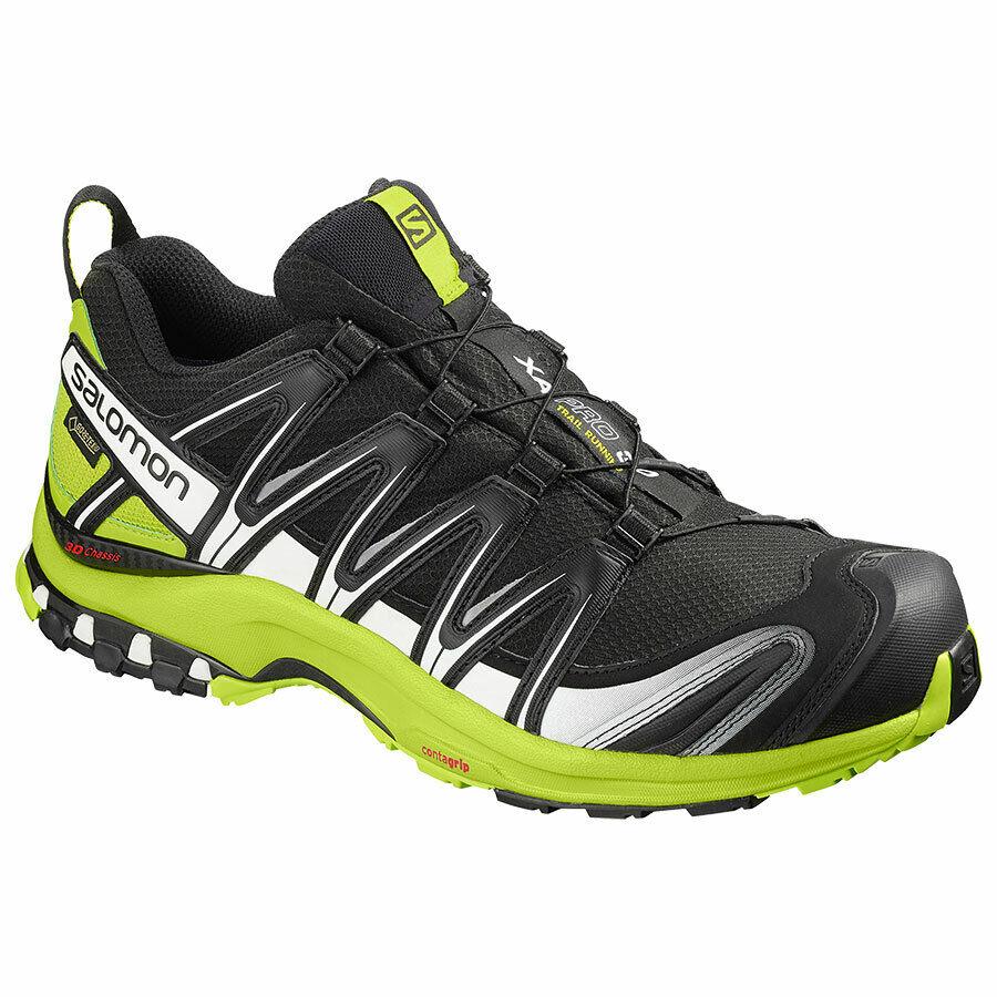 Zapatos Running Mountain Trail Salomon Xa pro 3D GTX negro Lime