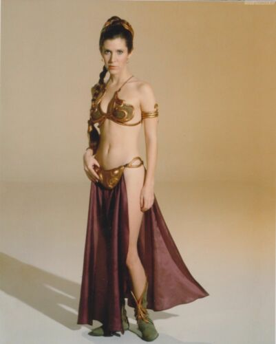 """CARRIE FISHER A4 GLOSS POSTER PRINT LAMINATED 10.3/""""x8.3/"""""""