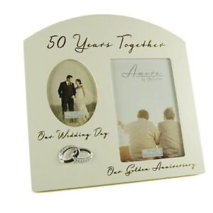 Golden-50th-Wedding-Anniversary-Multi-Photo-Picture-Frame-Keepsake-Gift-FW82950