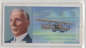 Henri-Farman-French-Aviation-Pioneer-Aircraft-Builder-1930s-Trade-Ad-Card