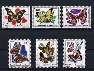 Butterflies-mnh-set-of-6-stamps-1966-Rwanda