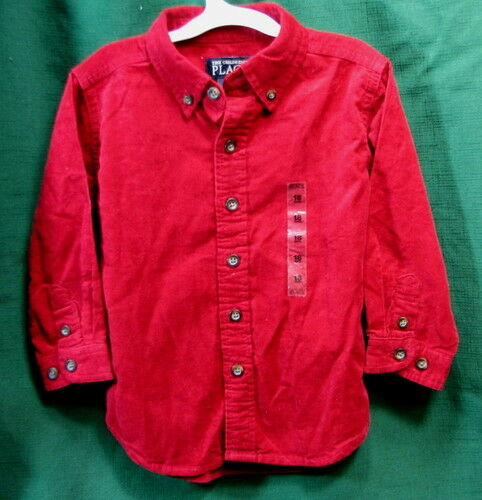 Children/'s Place Infant Toddler Boy/'s Cordouroy Button Down Shirt 18 months New