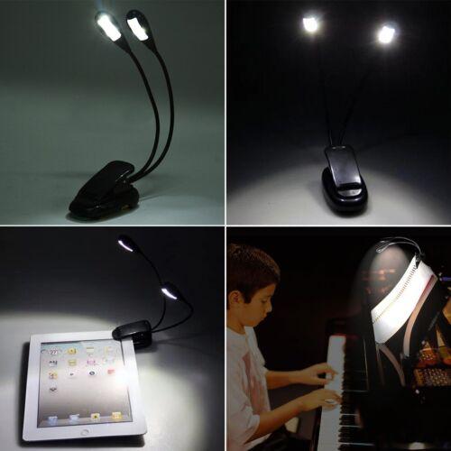 Pro Flexible USB Table Battery Power LED Light Clip-on Bed Desk Lamp