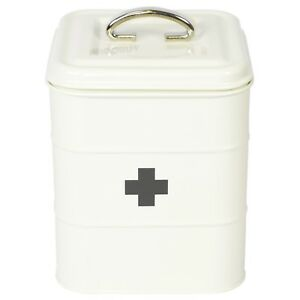 Exceptionnel Image Is Loading Retro Cream EMPTY First Aid Kit Storage Box