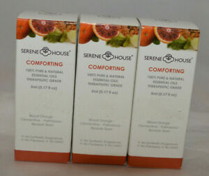 QTY-3-Serene-House-Comforting-100-Pure-amp-Natural-Essential-Oils-Comforting