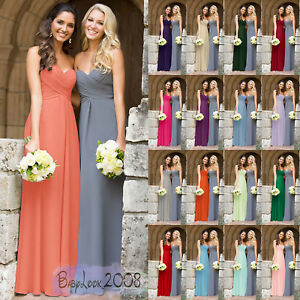Image Is Loading New Length Bridesmaid Dress Wedding Maxi Formal Party