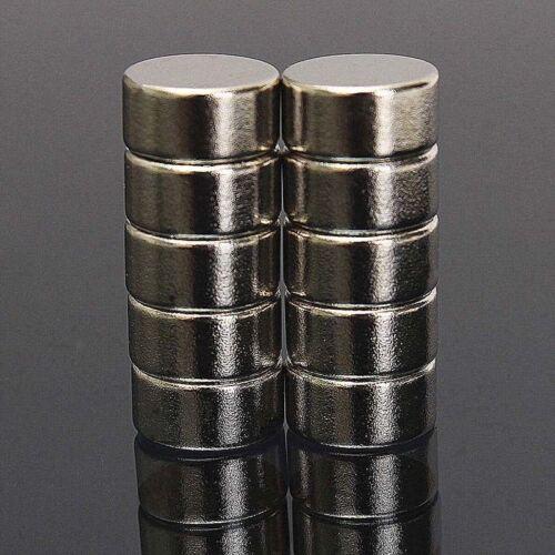 10 stk Neodym Mini-Magnete Scheiben-Magnete 10x5 mm Rund Extra-starke Haftkraft