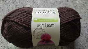 Details about Cleckheaton Country #2259 Dark Brown 100% Pure Wool 8 Ply