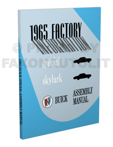 1965 Buick Factory Assembly Manual Special Skylark Sportwagon