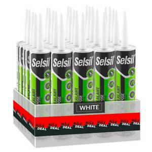 Selsil-Premium-280ml-White-General-Purpose-Silicone-Sealant-25-Pack