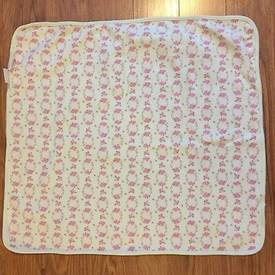 First Impressions Security Blanket Baby Shower Pink Flowers Roses 100/% Cotton