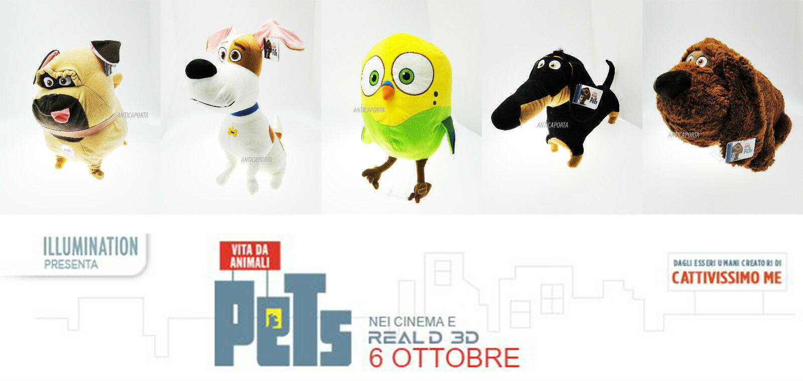 Peluche Pets Vita da Animali Originali Enormi Illumination Universal  88 cm