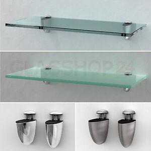 glasregal wandregal badregal ablage regal glasablage glas glasregale regale ebay. Black Bedroom Furniture Sets. Home Design Ideas
