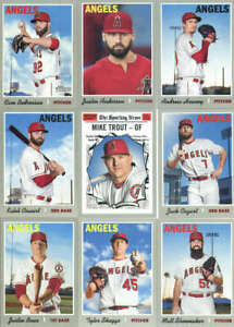 2019 Topps Heritage Baseball Los Angeles Angels Team Set of 15 Cards (No SPs)