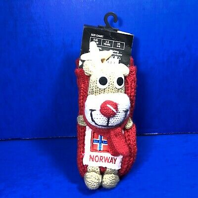 Rudolph The Red Nosed Reindeer Socks Toddler Kids Shoe Size 10-4 Christmas New