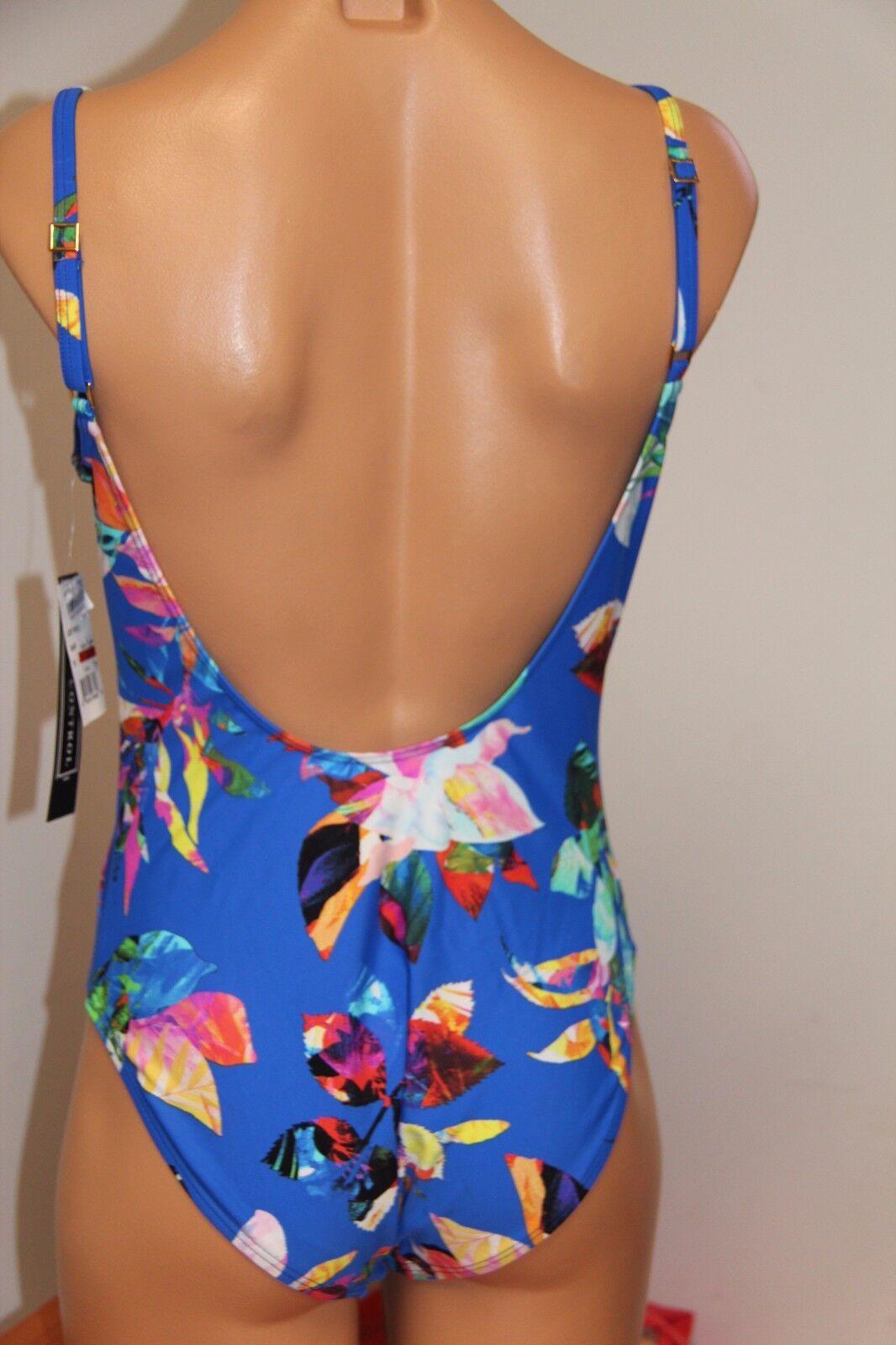 NWT La whitea Swimsuit Bikini 1 one piece Sz 6 6 6 SAP Havana Tropics 053b77