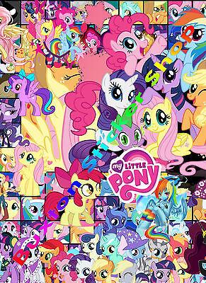 3 x My Little Pony Kids Vinyl Decal Sheet Girls TWILIGHT LUNA stickers Bomb A4