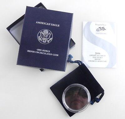 burnished 2006 w NO COIN COA silver eagle EMPTY box /& bag