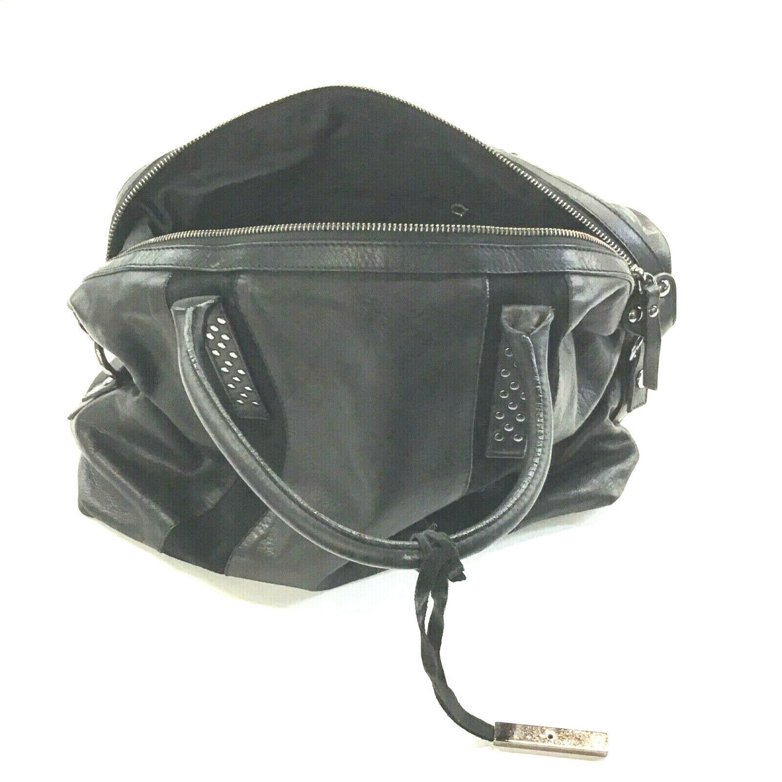INNUE Women's Genuine Leather Handbag Black w/Front Suede