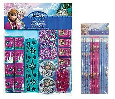Disney Frozen Anna & Elsa 60-Piece Mega Pack Birthday Party Favors Goody Loot